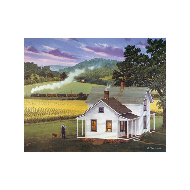 decoration countryside scenery painting printing bulk oil painting living room study classrom wall painting 03