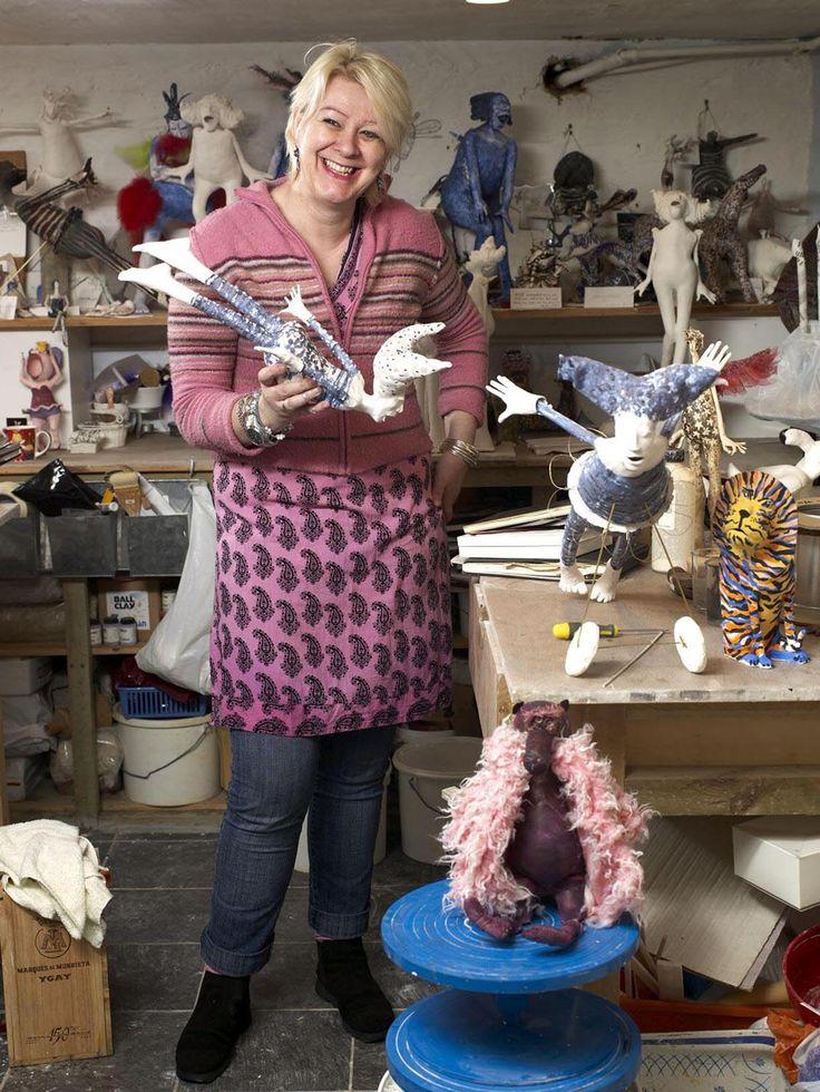 Janet Crook, ceramic sculptor, Surrey Artists Open Studios