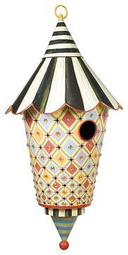 Birdazzled Birdhouse | MacKenzie-Childs - eclectic - birdhouses - other metro - MacKenzie-Childs