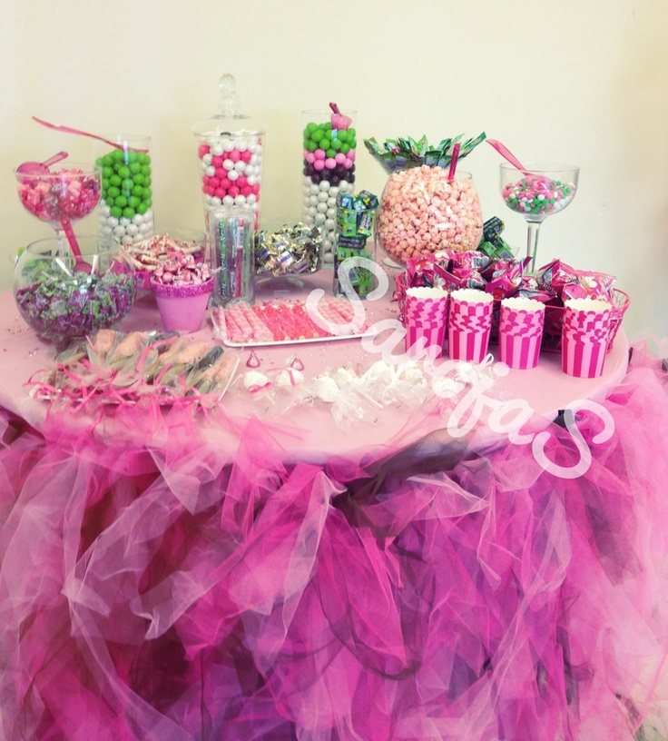Baby shower candy table baby shower ideas pinterest for Baby shower at home decorations