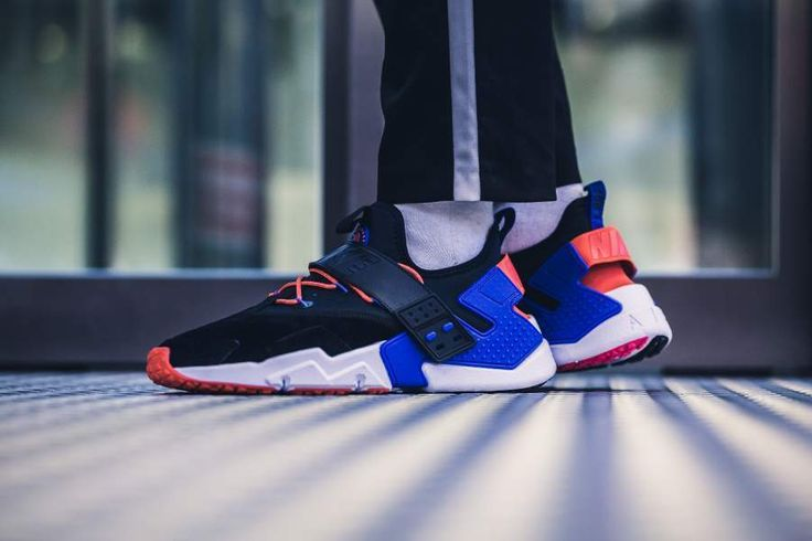 NIKE AIR HUARACHE DRIFT PREMIUM BLACK, RUSH VIOLET & ORANGE SNEAKERS ALL SIZES #Nike #RunningShoes