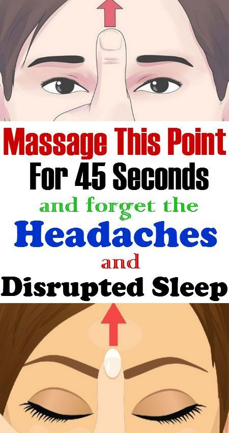 Massage This Point For 45 Seconds And Forget About The Constant Headaches