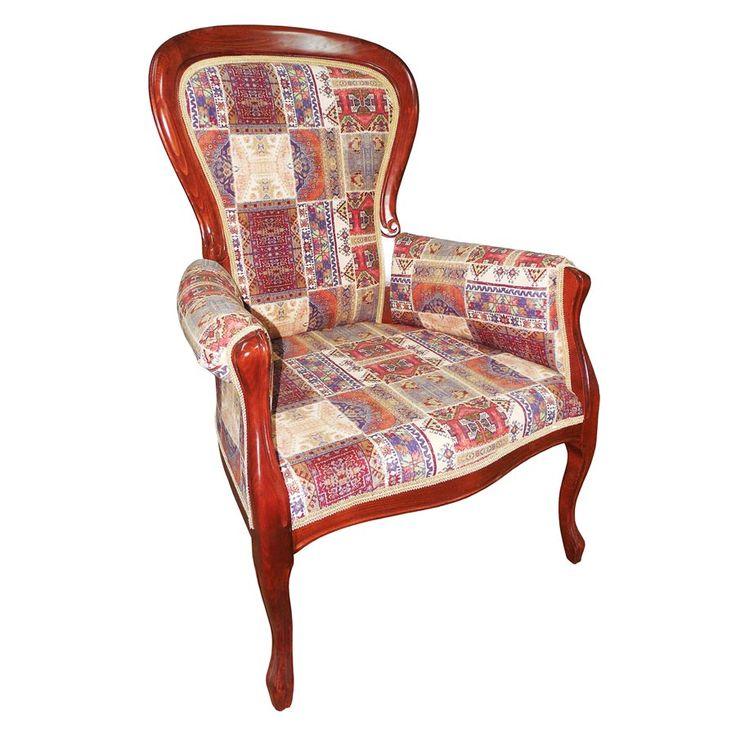 Fotoliul clasic Lorenzo Kilim, o nouă apariție rafinată în portofoliul de mobilier tapițat al Retro Boutique.