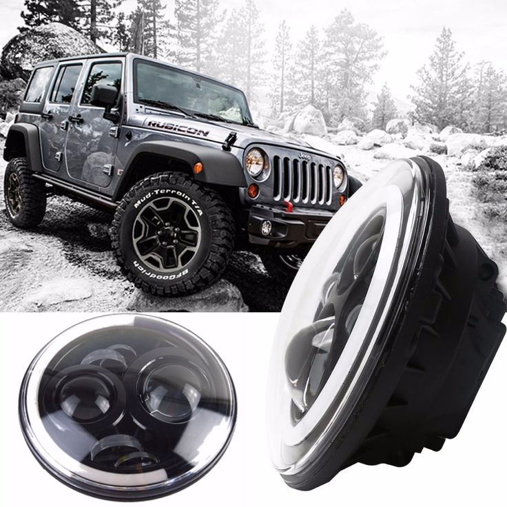 "116.10$  Watch now - http://alixqy.worldwells.pw/go.php?t=32769641816 - ""7""""Inch Round Led Headlight DRL&Hi/Lo Beam for Jeep Wrangler JK TJ LJ CJ Unlimited Rubicon Sahara Hummer 1&2 Land Rover Defender"""