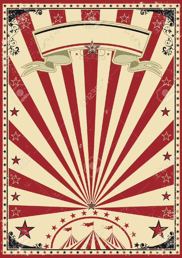 Circus Red Vintage Royalty Free Cliparts, Vectors, And Stock ...