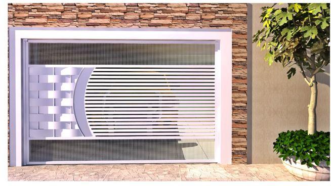 Portão Basculante com 4,00m x 2,50m para Garagem - Com Motor - 3D Warehouse