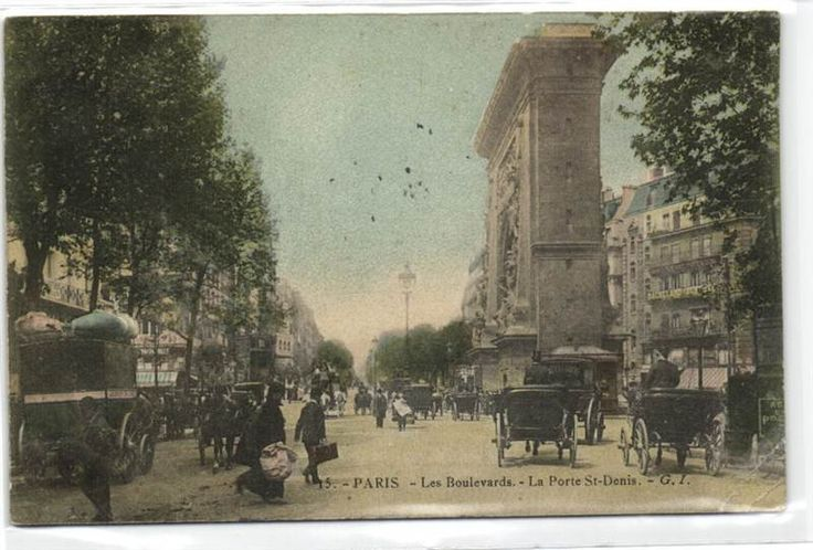 urbitrend-collectables - 1 carte postale France DEP 75 Paris La Porte St Denis dated 1907, €1.99
