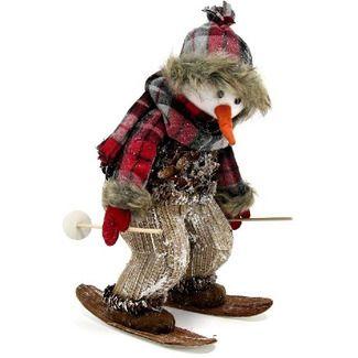 Muñeco nieve esquiador navidad