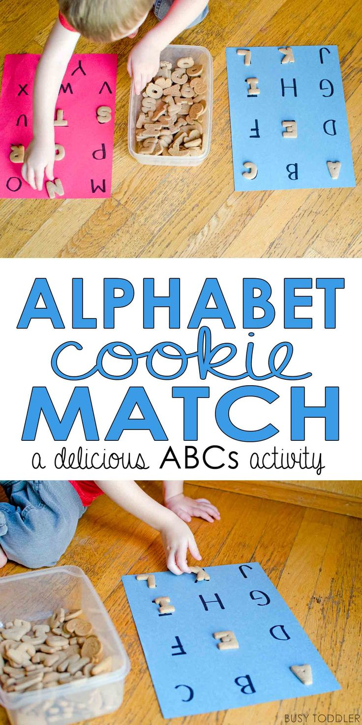 Alphabet Cookie Match Game: a delicious way to practice the ABCs; easy indoor activity; toddler activity