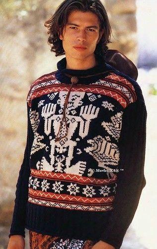 Вязание спицами - мужской пуловер с этническим жаккардом. Обсуждение на LiveInternet - Российский Сервис Онлайн-Дневников