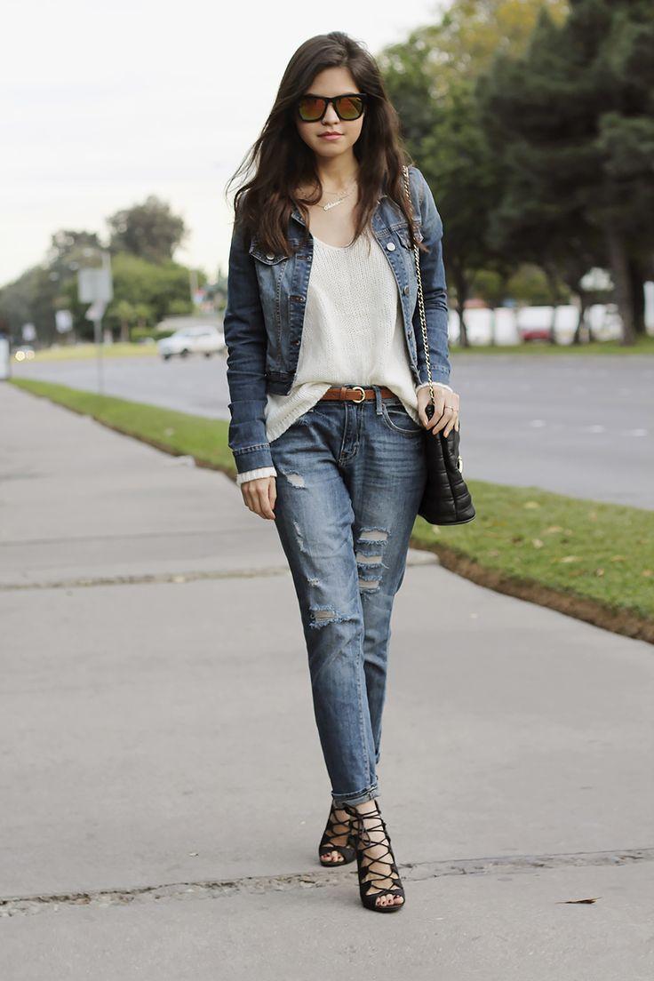 37 best Denim Jacket - how to wear it images on Pinterest   Denim ...
