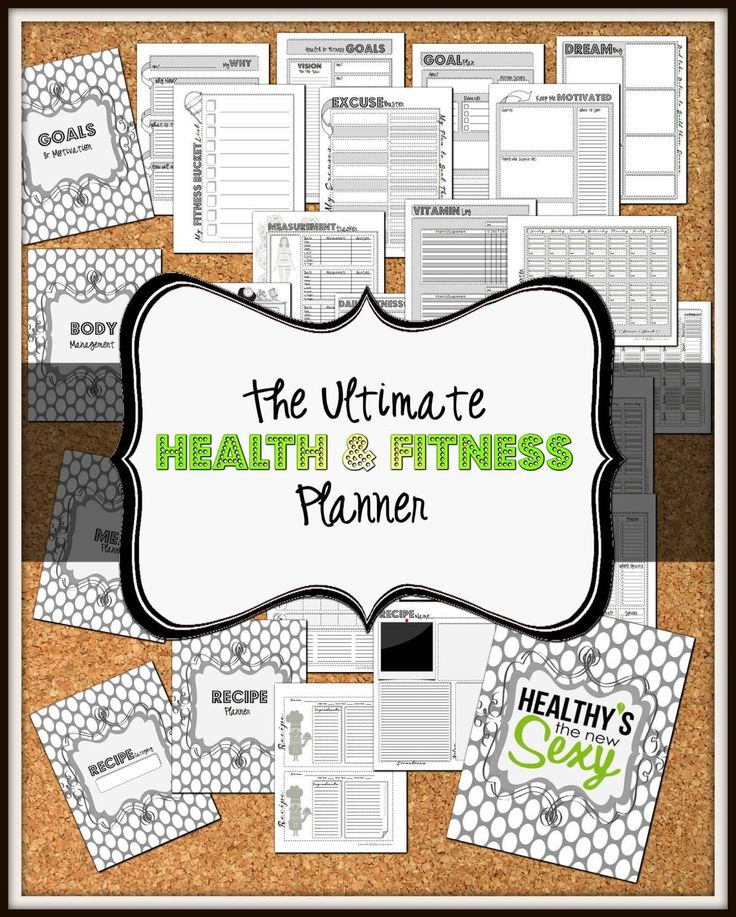 Free Fitness binder Printable