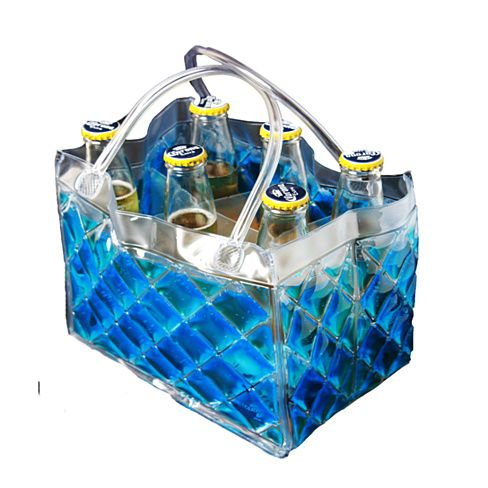 Heading to a BYOB party? keep the chilled beer bottles in this frozen bag and carry it in style.. be assured the beer will stay chilled till the last drop.