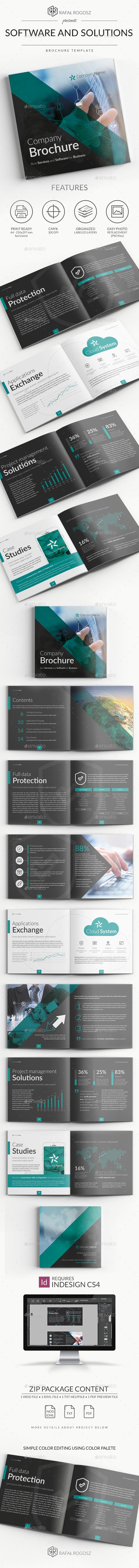 Software and Solutions #Brochure - #Brochures Print Templates Download here: https://graphicriver.net/item/software-and-solutions-brochure/19595516?ref=alena994