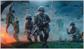 """Brothers in Arms"" by Matt Hall --101st Airborne and 82nd Airborne at Ste. Mere Eglise in WWII"