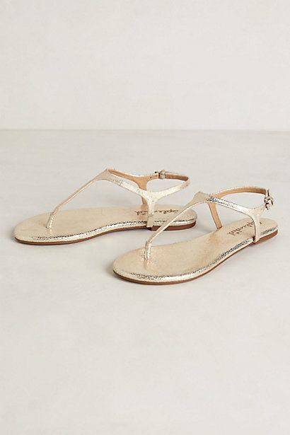 felucca t-strap sandals / anthropologie