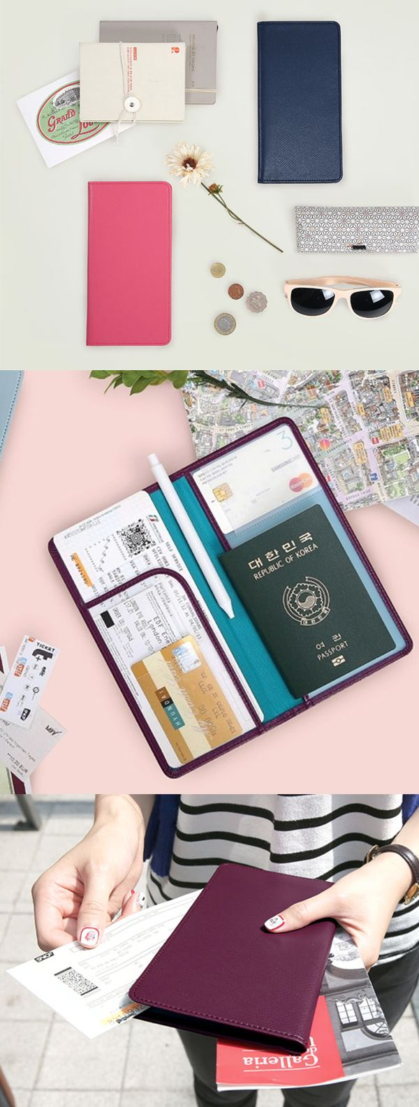 You will be able to carry your passport, a pen, cards and tickets all together for a great convenience! This reliable passport wallet also keeps your informations safely with RFID protection. With quality material and a clean design, it is a classy must-have item for your travel!