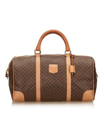2fee0989821e CELINE PRE-OWNED  MACADAM DUFFEL BAG.  celine  bags  leather  pvc ...