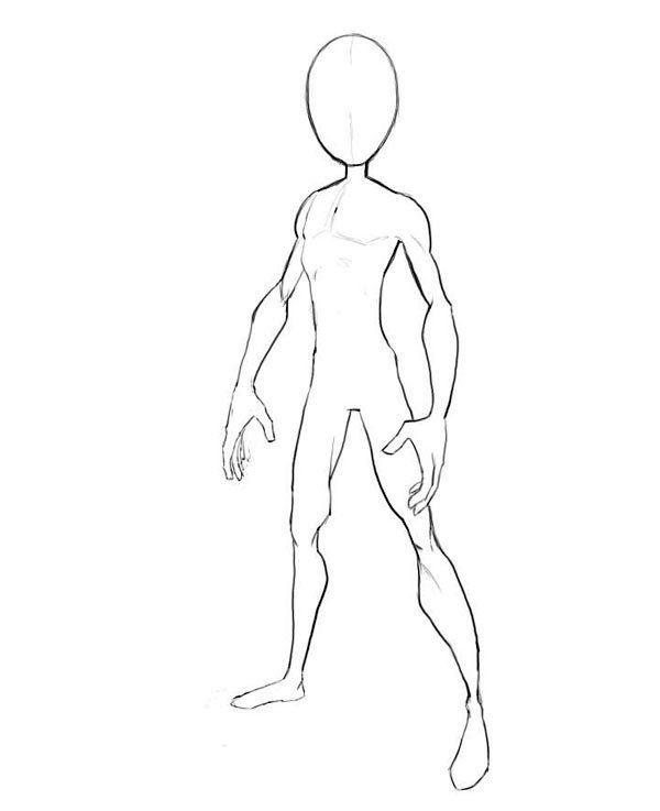 11 Breathtaking Draw People Cartoon Realistic Ideas Body Template Body Outline Drawings