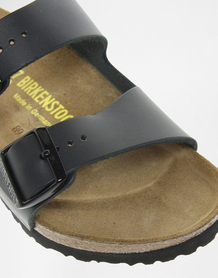 Изображение 4 из Узкие черные сандалии с двумя кожаными ремешками Birkenstock Arizona