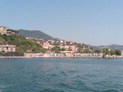 Murales sul molo di Cadimare - La Spezia