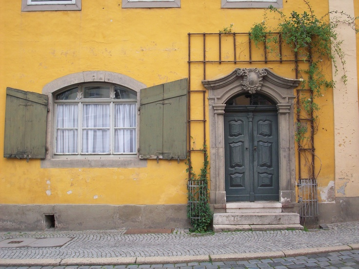 beautiful little door & house I photographed in Weimar, Germany
