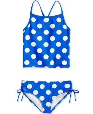 Kanu Surf 2-Pc. Dot-Print Tankini Swimsuit, Big Girls (7-16) - Blue 14