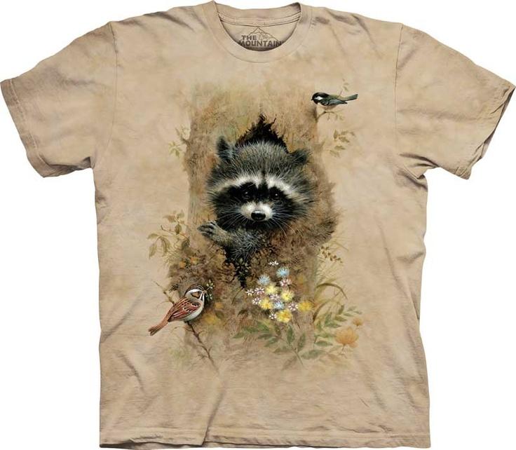 women's t-shirt wee raccoon stonewashed by itsnotsplittingatoms