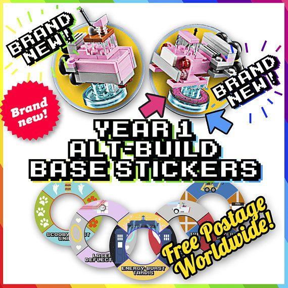 YEAR 1 ALT-BUILDS  Lego Dimensions Base Stickers  96 unique
