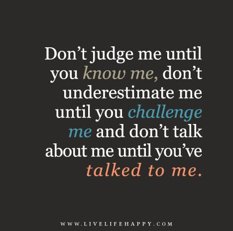 don t judge challenge