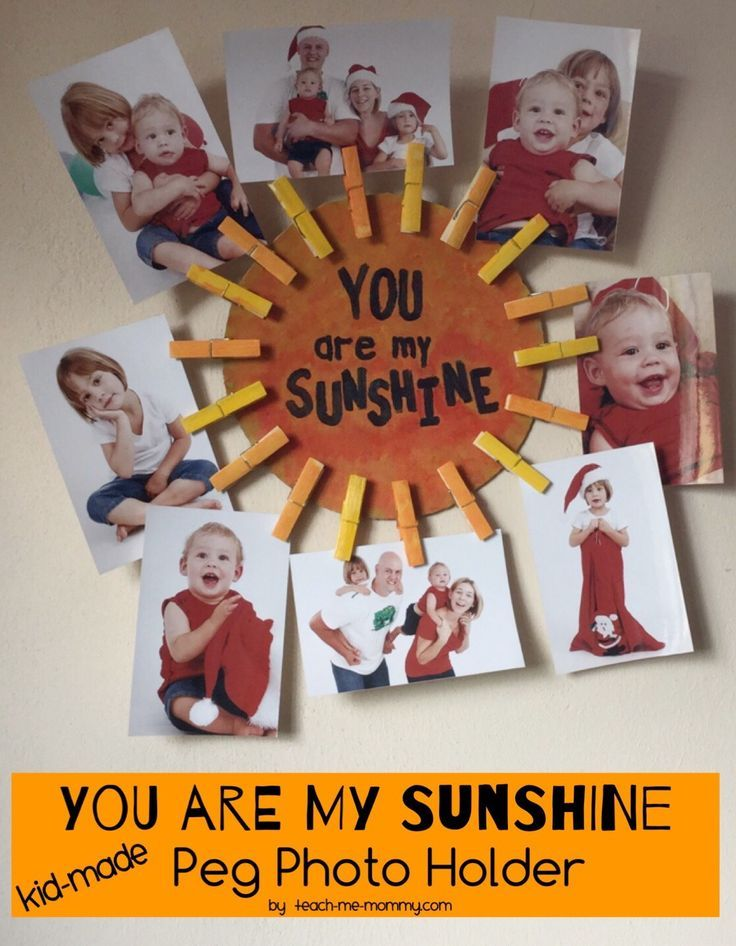 217 best kid made gifts images on pinterest kids crafts you are my sunshine photo gift negle Choice Image