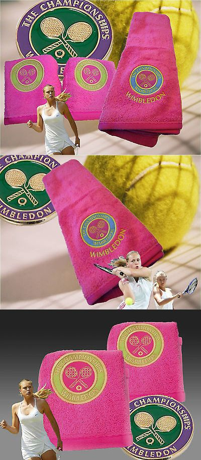 Pants 179018: New Christy Wimbledon Tennis Club Tournament Hand Towel And Flanells Set Pink BUY IT NOW ONLY: $51.7