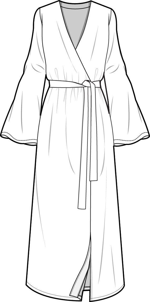 Кимоно картинка раскраска
