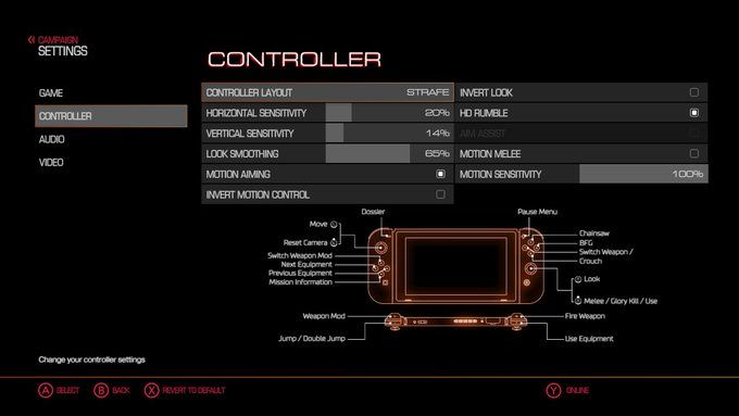 The recent DOOM patch added motion controls! Rip and Tear in style! http://bit.ly/2lnzap3 #nintendo