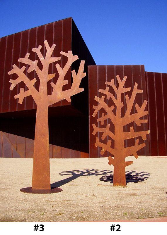 Tree Sculptures in rust, blackened rust or powder coat finish. $1,900.00, via Etsy.
