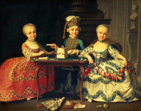 Детские портреты в старину: François-Hubert Drouais