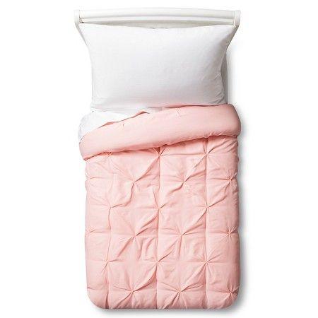 Pinch Pleat Comforter Toddler Light Pink - Pillowfort™ : Target