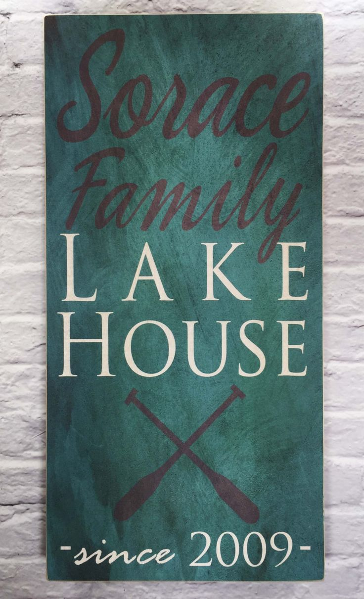 Lake House Family Name Sign On Wood, Last Name Sign, Custom Patio Sign,