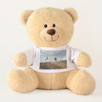 #name - #Dirt Bike Personalized Teddy Bear
