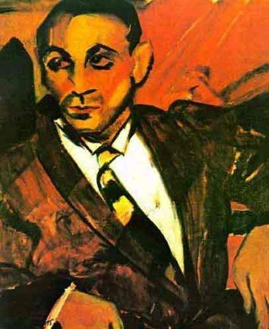 O homem amarelo - Anita Malfatti - Expressionism, 1917