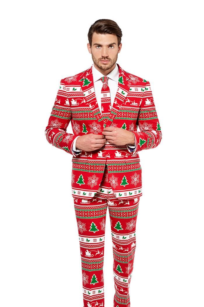 The Ugly Christmas Sweater was so 2013. Show up to this year's party lookin like you stepped straight out of GQ North Pole edition with the Ugly Christmas Suit.
