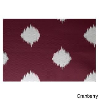 E by Design Holiday Ikat Print Decorative Area Rug (4 X 6') (Cranberry), Red, Size 4' x 6'