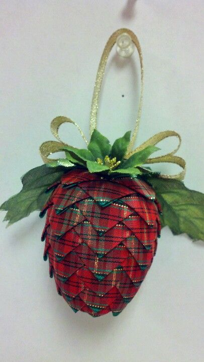 tartan fabric pine cone by carolina girl crafts