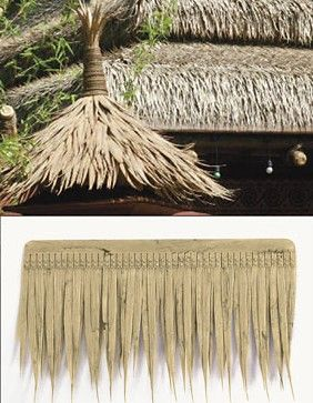 "Artificial Thatch for Tiki Bars Polyblend  Panels  20"" long $11 each / Box of 30 for $9 each"