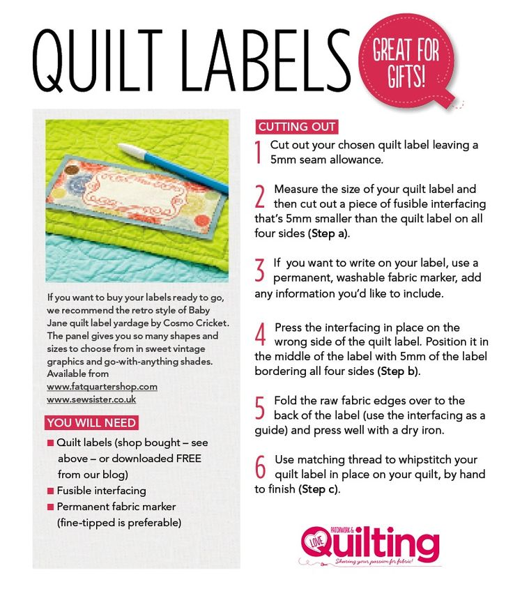 FREE Quilt labels printable Craft Ideas Quilt labels, Sewing