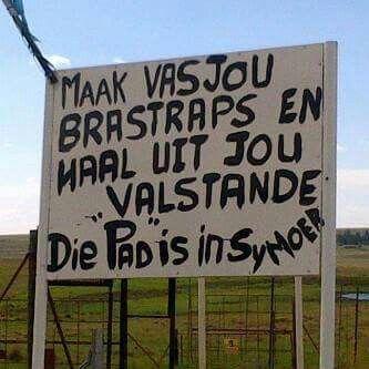 Wanneer die pad baie sleg lyk en is...  Suid Afrikaanse grappe en humor
