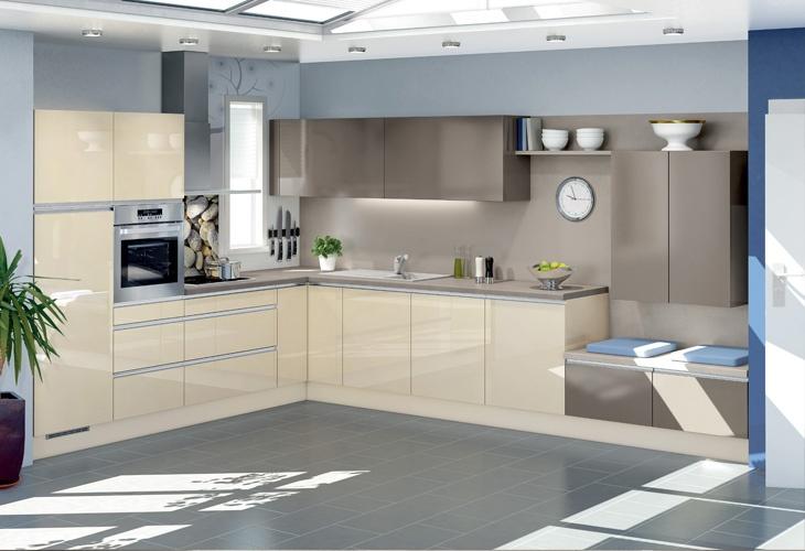 k che in vanille eckk che k chen in creme magnolie und vanille. Black Bedroom Furniture Sets. Home Design Ideas