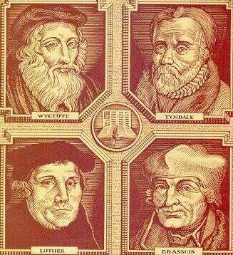 bible translators | Bible translation history...picture of tyndale, wycliffe john, luther ...
