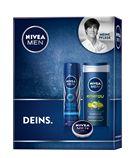 Mit dem Fresh Geschenkset von NIVEA MEN verschenken Sie den optimalen Frische-Kick für die Haut. Das NIVEA MEN Deo Spray Fresh Active sorgt für 48h sicheren Deo-Schutz und langanhaltende Frische. Die belebende und zugleich pflegende Formel der NIVEA MEN Energy Pflegedusche verleiht ein intensiv gepflegtes Hautgefühl. Ebenfalls im Set enthalten ist die NIVEA MEN Creme, welche die Haut vor dem Austrocknen schützt ohne zu fetten. Verschenken Sie jetzt Pflege für die Männerhaut: Fresh…