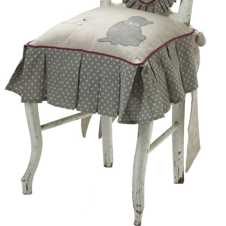 Housse de chaise chat et souris blancheporte d co for Housse de chaise becquet